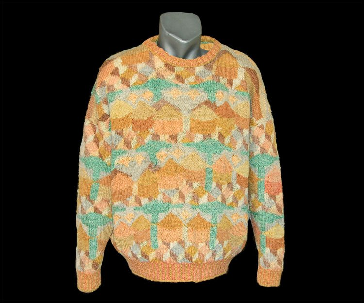 Pullover, knitted by Geoffrey..